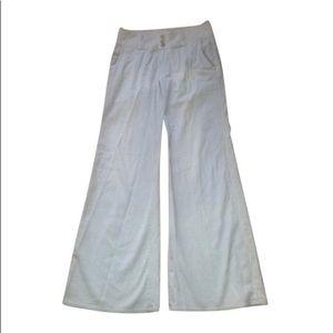 Hudson Pinstriped Wide Leg Jeans Size 28